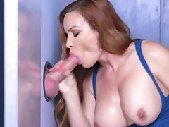 Jaw dropping gloryhole porn with busty milf, Diamond Foxxx
