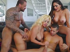 Busty milfs, foursome extreme in mind blowing scenes