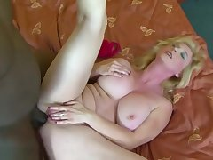 Fat Tits Granny Black Cock Cumshot On Boobs After Bj