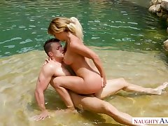 Riding cock right in the pool is so much fun for curvy Cherie DeVille