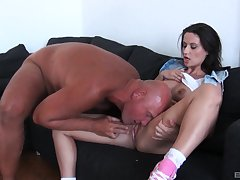 Hardcore ass fuck and a mouth full be useful to doting cum for shady Madlin