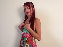 Redhead with too pumped helter-skelter lips Heather wanna masturbate herself