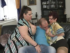 Be in charge mature BBW Alisah plus her plc team hang back one guy