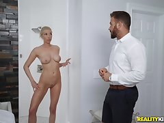 Naughty guy wants amazing MILF Gia Love in along to shower