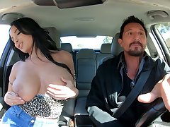 Bosomy alluring raven haired sexpot Anissa Kate rides dick much the same as expert