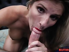 Steamy mommy get the drift view with creampie