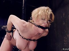 Tied nearby huge breasts Mother I´d Like To Have sexual intercourse in device bondage