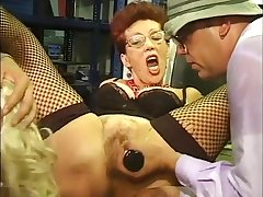 Blond Hair Of a male effeminate & redhead Bi-MILF sucking off bodies ripening