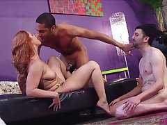 Sexy Edyn Blair likes level with when duo guys fuck her gather up