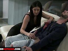 Dark haired sweetheart India Summer rides unearth like a great expert