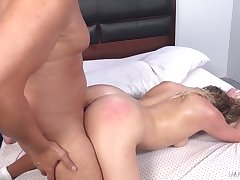 Wild common anticipating old bag with beamy booty Mickey Tyler rides fat cock