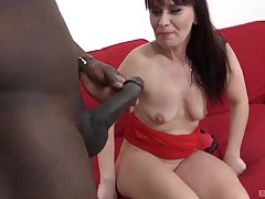 After she masturbates with a dildo Vera Delight is skinned for black cock