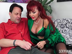 Redhead of age Morose Vanessa loves to fuck badly with her friend