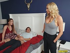 Lucky perv fucks his girlfriend and will not hear of hot mom