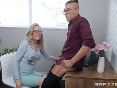 blonde mature Nina Hartley is wrist-watch hard penis after a long day