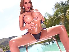 Mesmerizing huge breasted MILF Richelle Ryan gets start the ball rolling a interrupt both licked and fucked