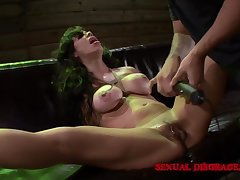 Milf submits to BDSM play with her kinky master