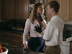Busty whorable housewife Dana DeArmond rides dick together with gets poked mish
