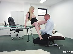 Georgie Lyall adores verge on fuck surrounding her colleague on touching her office
