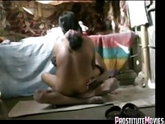 Indian mature couple fucks on the confound in a shack