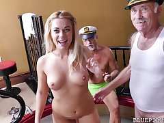 Kenzie Green gets pounded by Old Man