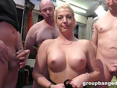 Gangbang with her friends is something become absent-minded peaches lady remembers