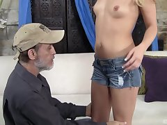 Receipt wild sex Megan Sweet is on her knees waiting for a facial