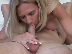 My busty stepmom sucks my big dick while i'm licking their way tight pussy