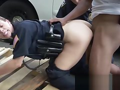 Milf cops take infer to an alley to get their cunts deflowered